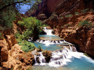 Travertine Pools Havasu Canyon