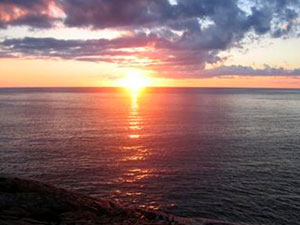 Lake Superior - beach sunset